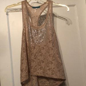 Sparkly tank top lace